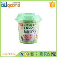 270ml customed logo plastic cup for soup with lid
