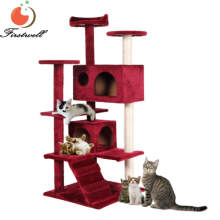 Cat Tree Tower Condo Furniture Scratch Post Kitty Pet House Play Red NEW