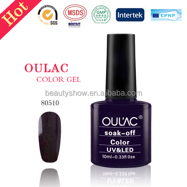 2017 Oulac magic free samples soak off uv nail gel, led uv gel polish, nail polish