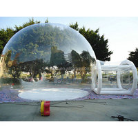 inflatable cube tent , LZ-E345 outdoor camping inflatable clear air dome tent
