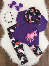 newest cotton unicorn print festival baby boutique outfit online shopping for wholesale clothing set