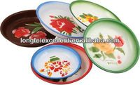 16-26cm enamel dinner plate with decal dish plate