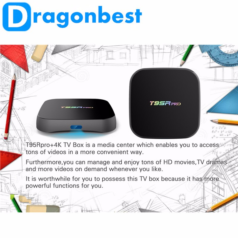 2016 Factory price T95R Pro s912 2g 16g digital cable receiver price for sale Dual WIFI KODI TV BOX