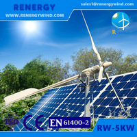 Home use wind power generator hybrid wind solar electric system