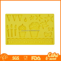 Silicone Mold Cake Decoration Tool for Fondant Cake Cupcake