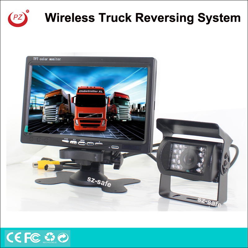heavy duty night vision rear view system, 7'' lcd display reversing camera kit for auto truck