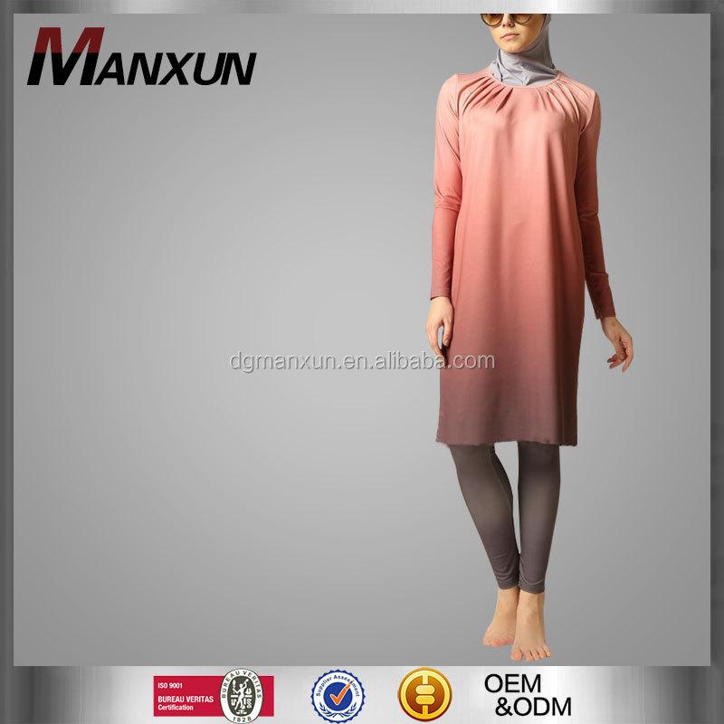 Volledig gesloten bescheiden moslim badpak lange mouw for Islamitische sportkleding vrouwen