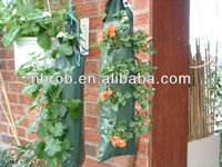 Garden hanging flower pouch/hanging plant bag