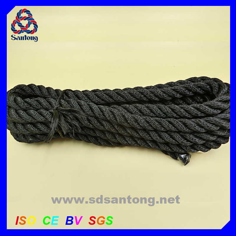 polyester twisted rope coil cord string for sailing boat