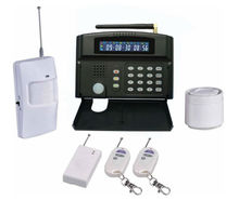 wireless security with horn and emergency button that can alert via gsm network