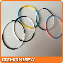 New design hot sale silicone hair rubber bands with various colors