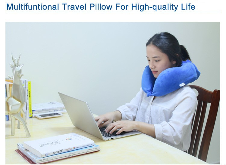 New Patent Luxury Headrest Neck Memory Foam Soft Support Travel Neck Pillow
