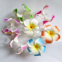Hawaiian foam flower hair claw
