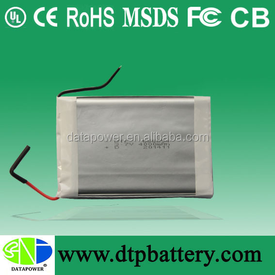 Data Power lithium polymer battery 3.7v with 4000mah for Tablet PC / MID / PDA