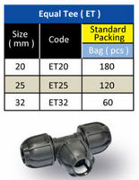 HDPE Pipe Fitting - Equal Tee