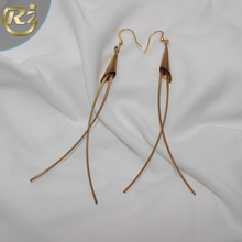EH-14 China Supplier New Design Kuchi Afghan Simple Blank Stud Single Stone Gold Drop Earring
