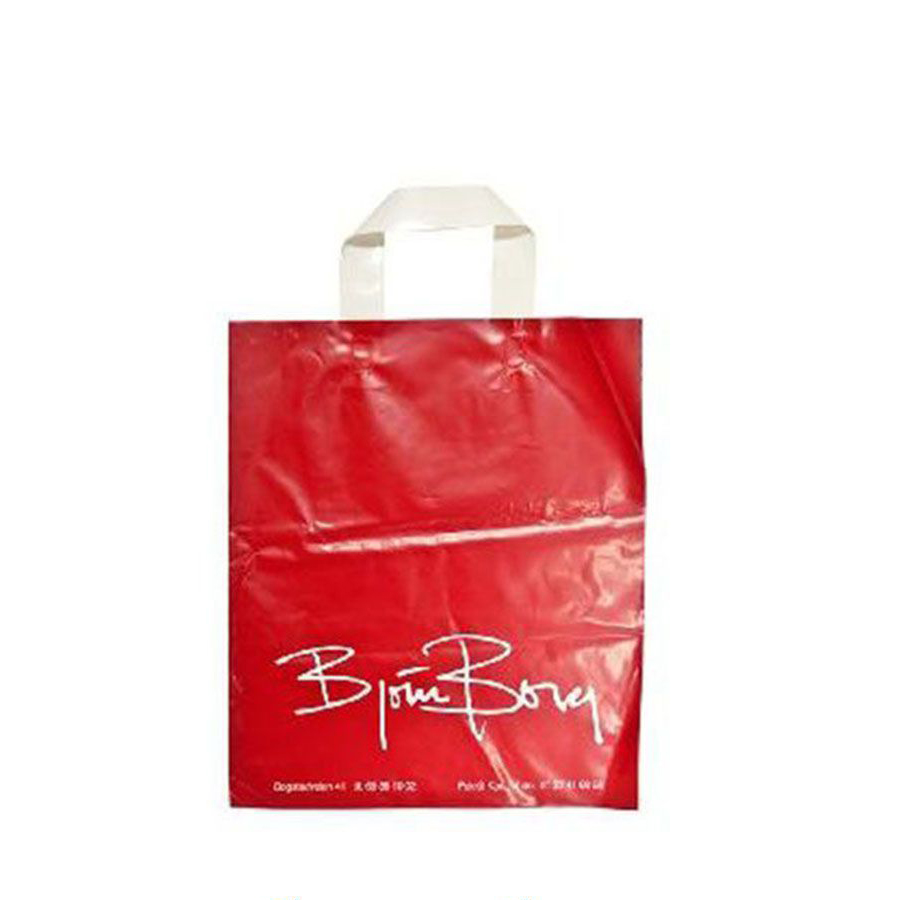 Ecofriendly green colorful branded plastic shopping bags