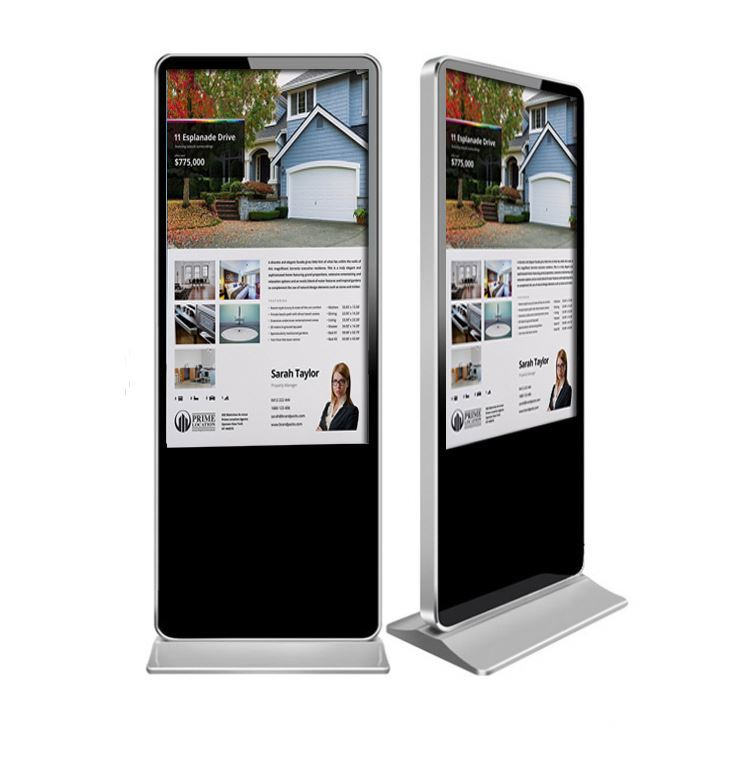 Floor Standing touch Screen display/ indoor lcd advertising player/usb digital advertising kiosk