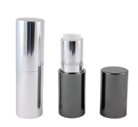 Hot product! Own label logo metal lipstick case with round shape and magnet combine