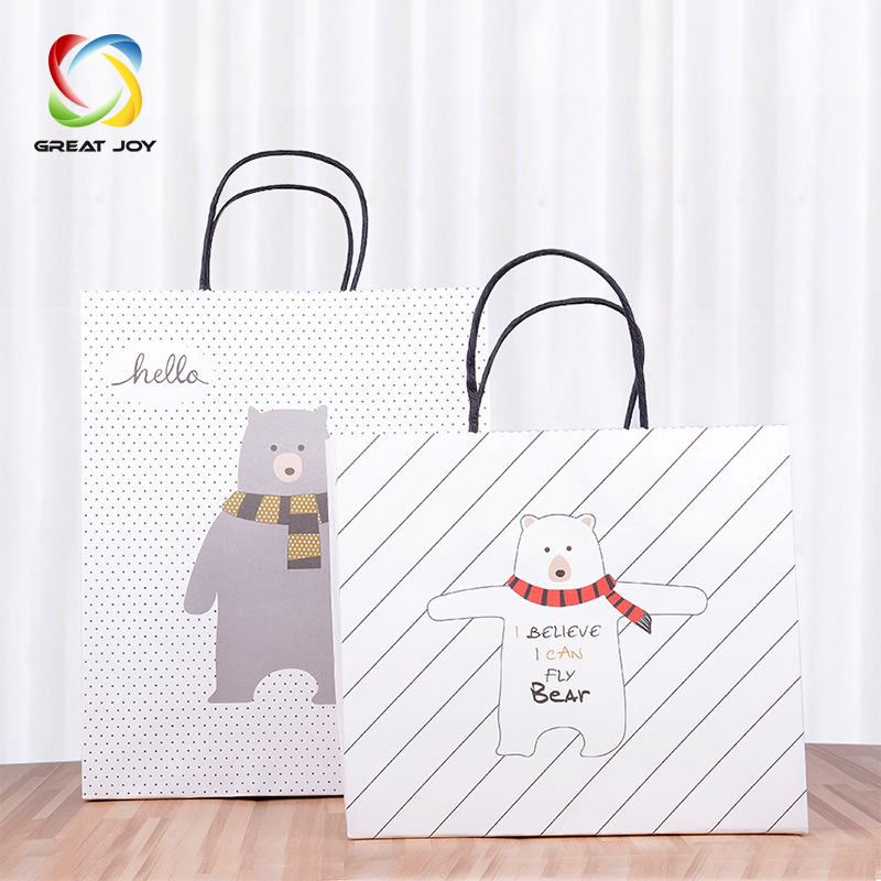 new design heat resistant fast food kraft paper bag packaging with windows
