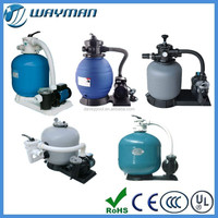 Side mount plastic sand filter and pump combo inflatable pool filter pump
