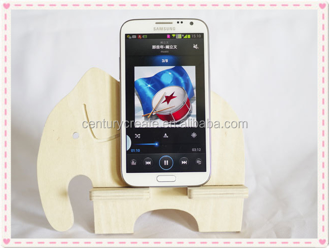 custom Animal shape wooden Mobile phone holder