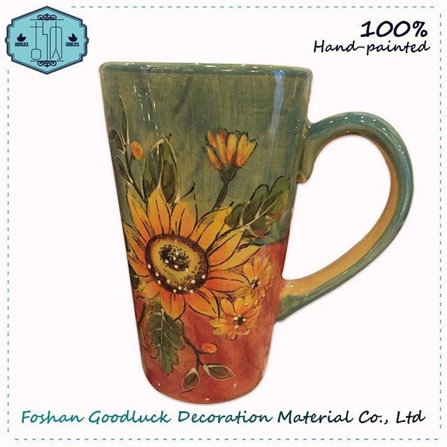 Famous Hand Painted Floral Ceramic Wholesale Office Irish Coffee Mugs