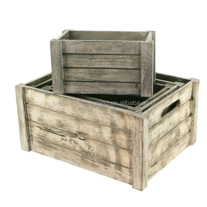 Natural wood box fruit crate wooden vegetable crates buy for Wooden fruit crates