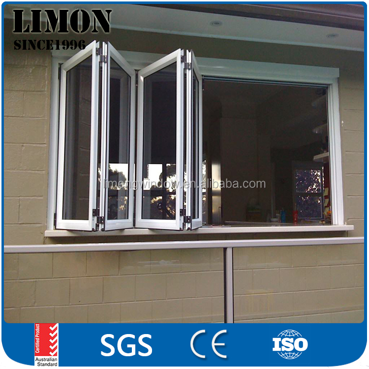 aluminium window manufacturer double glazing folding door/bi-fold door