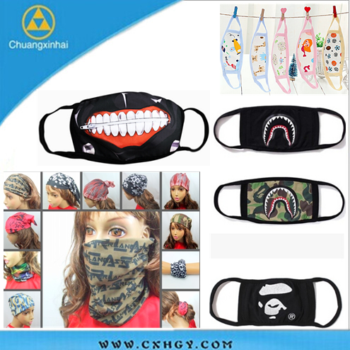 Digital printing Customized professional air filter face mask dust