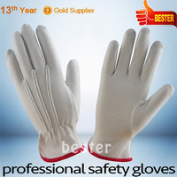 Newest Best-Selling white cotton gloves with pvc dots