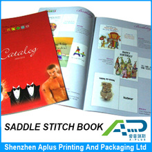 OEM saddle stitching softcover children book