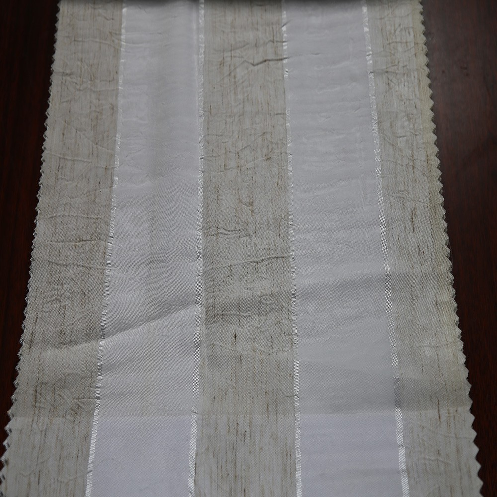 Popular Germany stripe jacquard sheer curtain fabric for kitchen sales