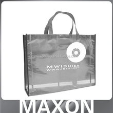 Laminated pp non woven shopping bag for salon domestic shop promotional bag