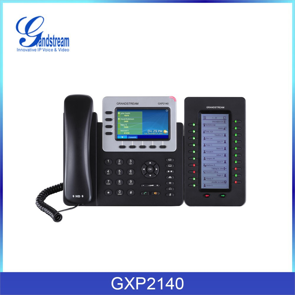 Smart ip phone 4 sip PoE Bluetooth USB EHS GXP2140
