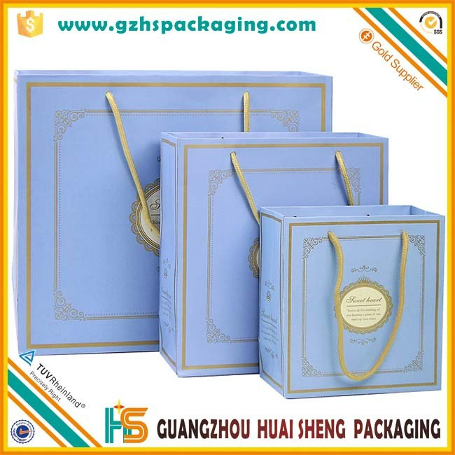 High quality custom wedding decorative paper bags for gift wholesale