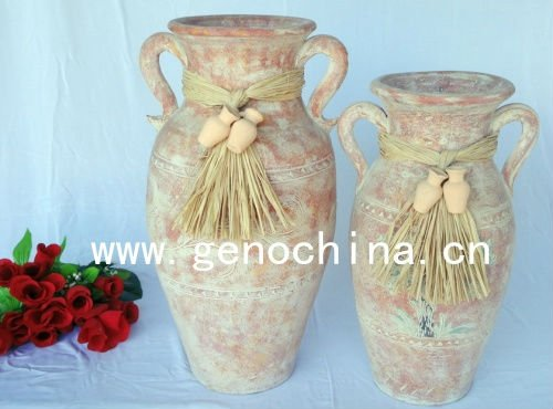 Fashion flower vase for gardening decoration fiberglass planters