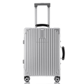 Leather handle aluminum frame luggage vintage aluminum luggage suitcase
