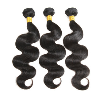 Lower price body wave human hair unprocessed virgin Brazilian hair