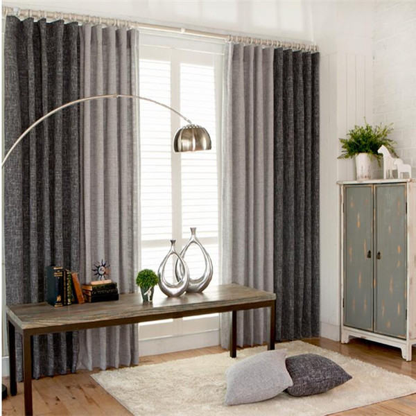 Solid Colors Living room ready made curtains design