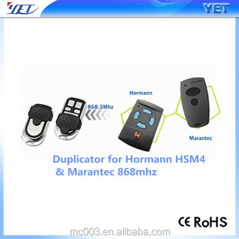hormann clonging remote control programing