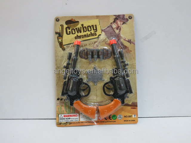 Plastic cowboy play toy set for kids!