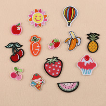 cartoon children mini fruit banana embroidery iron patch clothes supplies sewing theme badge DIY clothing bag