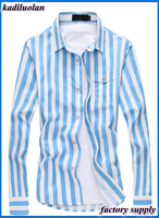 Tide male must-have classic stripes Fashion product Male comfortable shirt