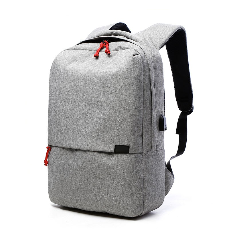 new gray color bag for teens melange velvet backpack for travel outdoor