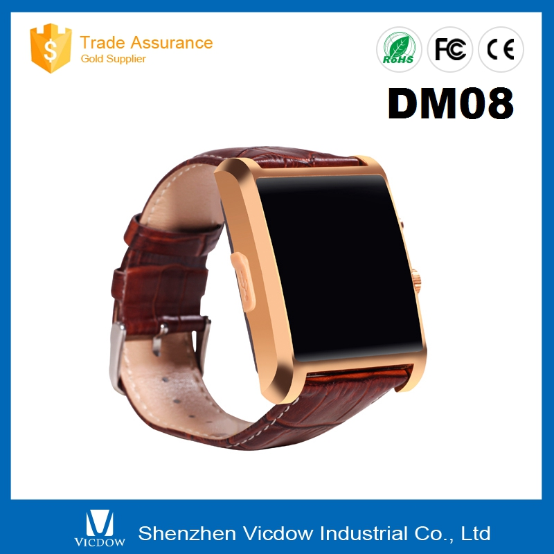 2015 new product DM08 with Touch screen china smart watch phone hot wholesale