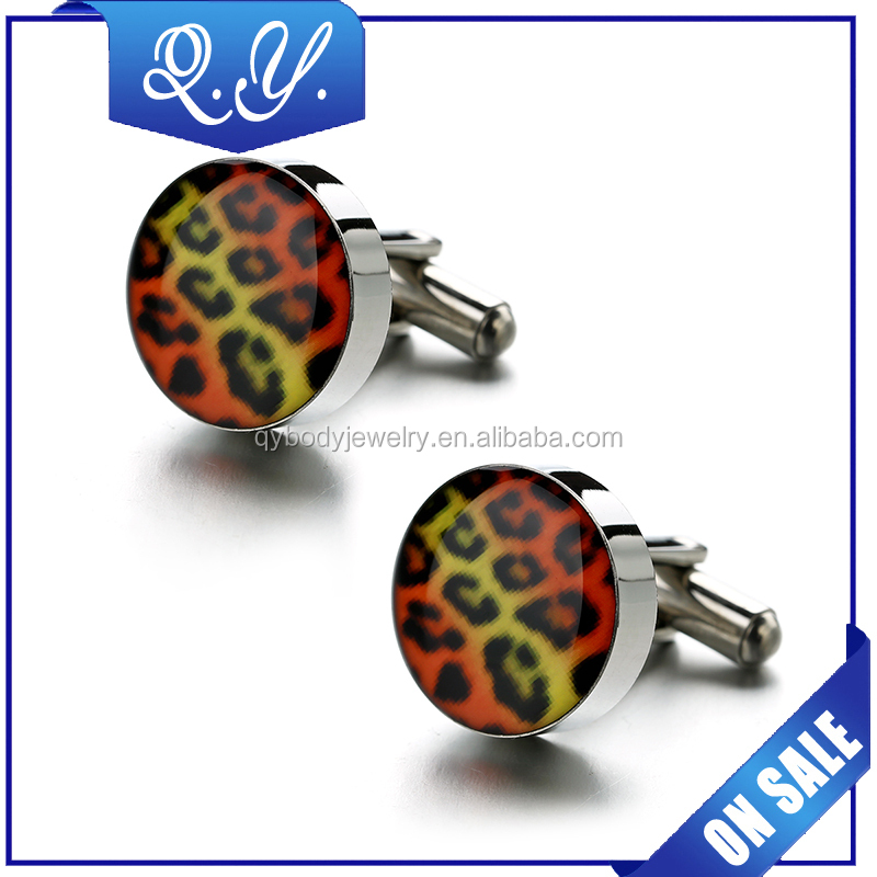 Button Factory New Products Fashion Sleeve Button with Leopard Print