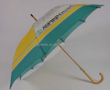 auto open customized wooden umbrella designer umbrella