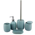 Newly design light blue simple polyresin bathroom sets for wedding decoration and factory wholesale