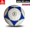 Pu customized football machine stitched promotional soccer ball